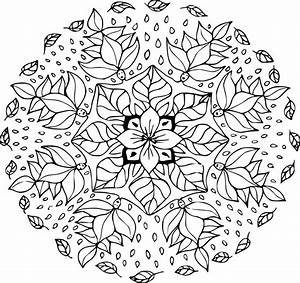 Feuilles D Automne à Imprimer : coloriage mandala feuille d 39 automne imprimer sur coloriages info ~ Nature-et-papiers.com Idées de Décoration