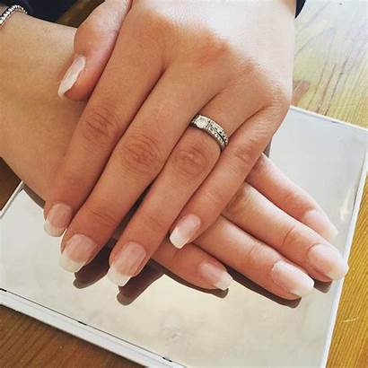 French Nails Acrylic Glitter Tip Manicure Designs
