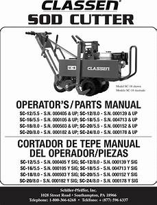 Classen Sc 12 5 Users Manual Sod Cutter Sc12 24 Eng Es