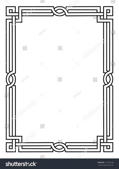 roman style black ornamental decorative frame stock vector