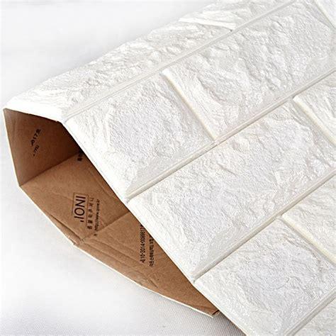 peel  stick  wall panels white brick
