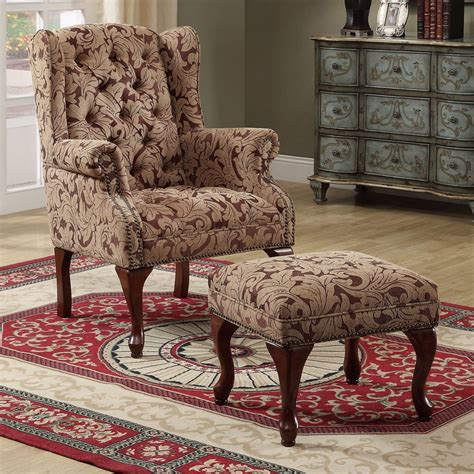 accents chairs queen anne light brown accent chair