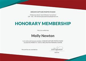 free honorary membership certificate template in microsoft With honorary member certificate template