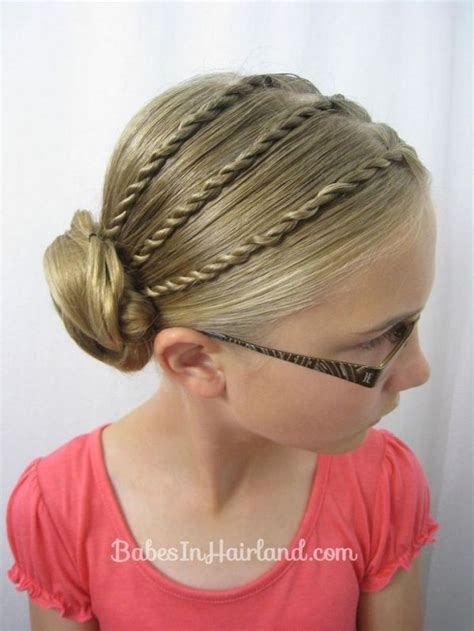 Easy Kid Hairstyles by Cool Braided Updo For Back To School Hair Ideas