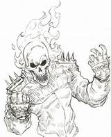 Ghost Rider Coloring Pages Drawings sketch template