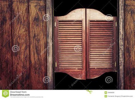 vintage wooden saloon doors stock image image