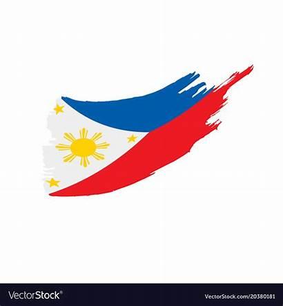Flag Philippines Vector Filipino Philippine Vectorstock Royalty