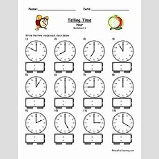 Clock Worksheets  Have Fun Teaching