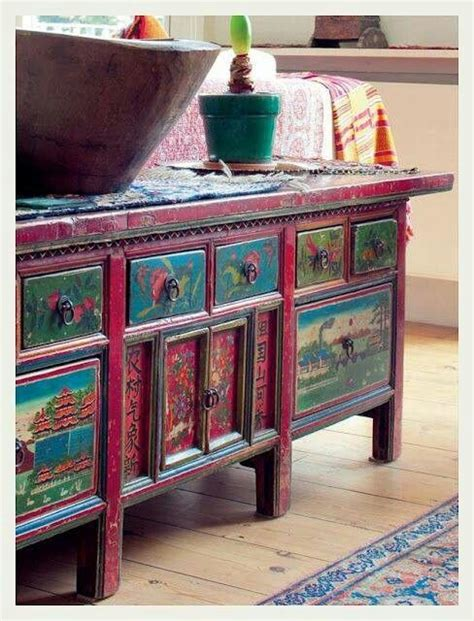 bohemian style furniture 75 best painted furniture boho style images on pinterest painted furniture salvaged