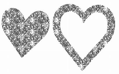 Glitter Silver Hearts Gold Sparkling Gifs Valentine