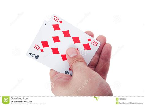 two player card hand holding two playing cards isolated royalty free stock photo image 18258085