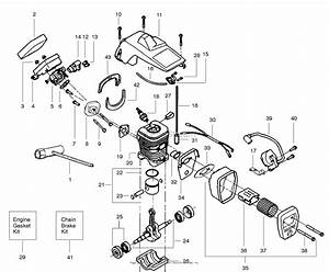 Poulan Craftsman 358 351182 Gas Chain Saw Parts Diagram