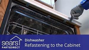 Dishwasher Tilting Forward: Refastening to the Cabinet ...