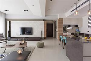Simple And Elegant Apartment In Taipei By HOZO Interior
