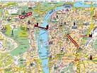 Praha map - Prague czechoslovakia map (Bohemia - Czechia)