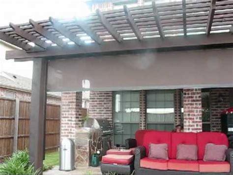 pergola motorized patio sun shade with tracks houston tx