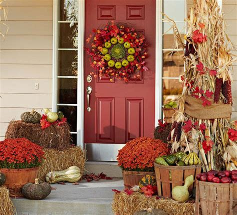 front porch fall decorations fall seasonal decorating ideas for front porch outdoortheme com