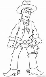 Cowboy Coloring Printable Template Cool2bkids sketch template
