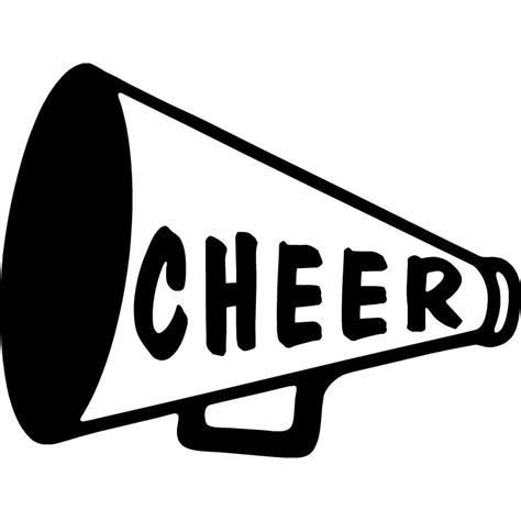 cheerleading clipart 15 9x12cm cheer megaphone car styling vinyl decal
