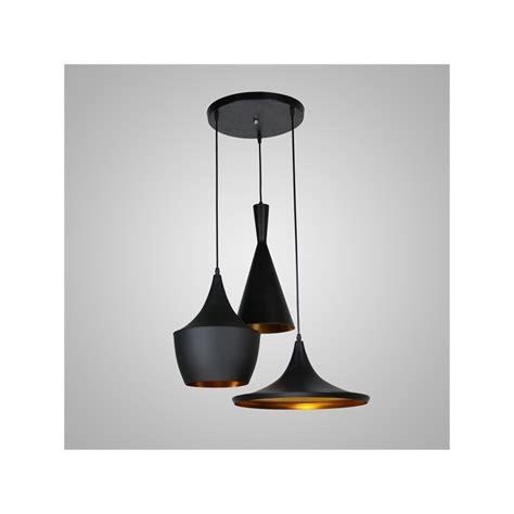 robinet de cuisine noir lustre plafonnier à 3 les l60cm style américain noir en aluminium luminaires cuisine