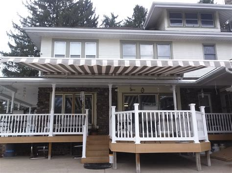 Motorized Sunsetter Retractable Awning Over Deck