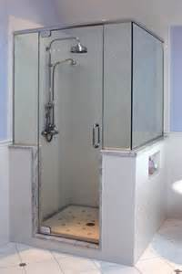 Knee Wall Bathroom with Shower