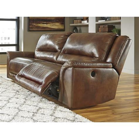overly power reclining sofa ashley jayron leather 2 seat power reclining sofa in
