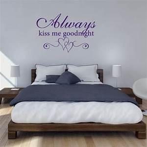 always kiss me goodnight wall sticker peenmediacom With kitchen cabinets lowes with always kiss me goodnight framed wall art