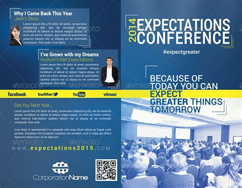 Conference Brochure Templates by 19 Conference Brochure Templates Free Psd Eps Ai