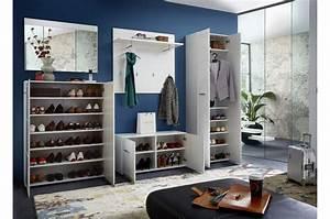 Vestiaire D Entree : meubles d 39 entr e vestiaire blanc laqu novomeuble ~ Teatrodelosmanantiales.com Idées de Décoration