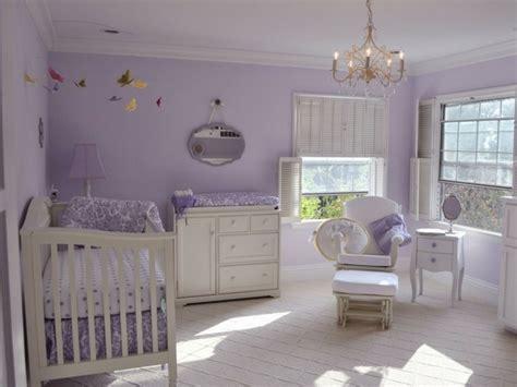 peinture chambre mauve et blanc la peinture chambre bébé 70 idées sympas