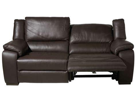 canapé conforama cuir canapé fixe relaxation électrique 3 places en cuir