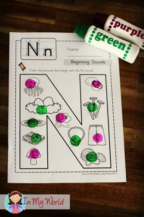 preschool letter n in my world 374 | In My Word Preschool Letter N 13