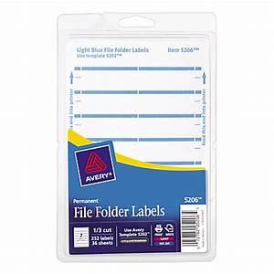 avery print or write permanent inkjetlaser file folder With how to print folder labels