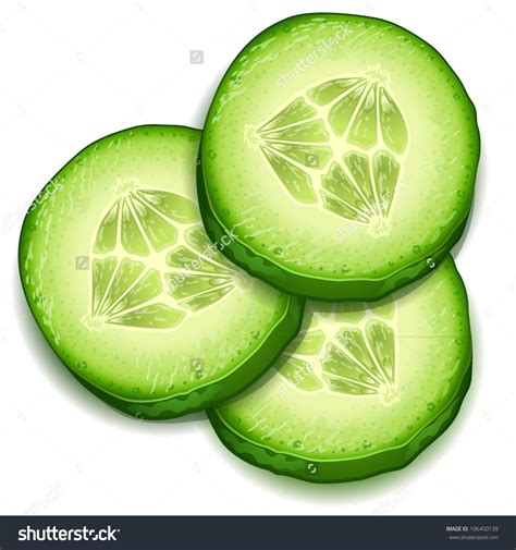 Clip Pictures Cucumber Slices Clipart Clipground