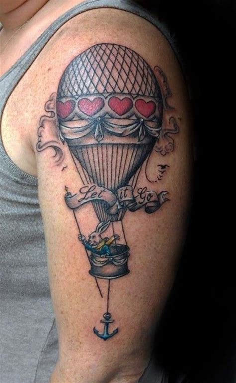 hot air balloon tattoos designs ideas  meaning