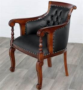 Fauteuil Style Anglais : fauteuil de bureau chesterfield capitonne noir style ~ Teatrodelosmanantiales.com Idées de Décoration