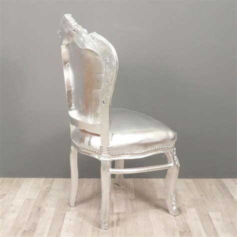 chaise ée 50 chaise baroque argentée chaises baroque pas cher
