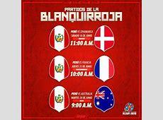 Perú en Mundial Rusia 2018 fixture calendario de la