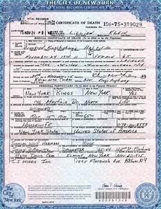 Fake Death Certificate Obtaining A Birth Certificate In Ny Birth Certificate