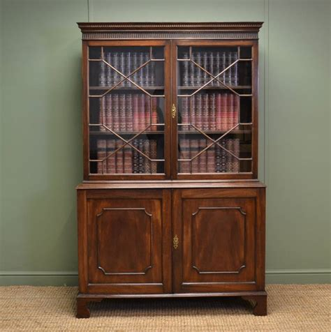 victorian mahogany antique bookcase  small proportions