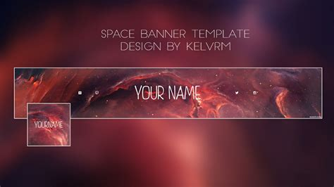 space youtube banner template kelv designs sellfycom