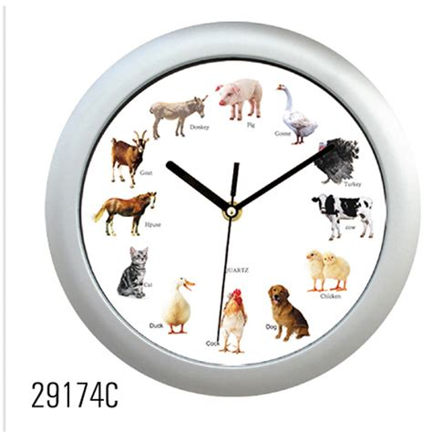 animal sound clockwall clocksound clock