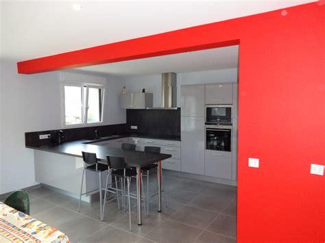 couleur cuisine salon air ouverte principe de cuisine en u cuisine de