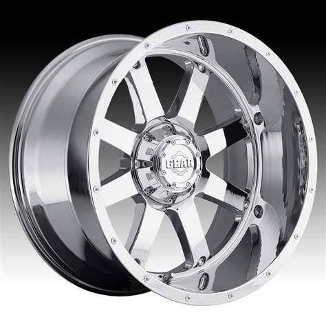 gear alloy 726c big block chrome custom rims wheels gear alloy wheels custom wheels express