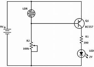 Ldr Circuit Diagram With Pnp Transistor  Dark Detector