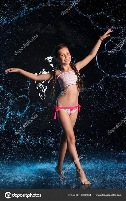 Bikini Preteen Een Water Swimsuit Depositphotos Young