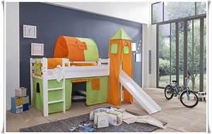 Kinderbett Mit Rutsche : spielbett kinderbett hochbett mit rutsche vorhang turm weiss spr ebay ~ Orissabook.com Haus und Dekorationen