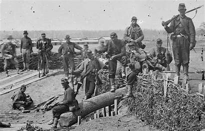 Confederate Captured Fortifications Soldiers Union Centreville Chubachus