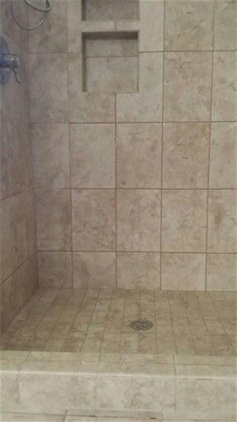 replaced shower insert  tile  shower floor